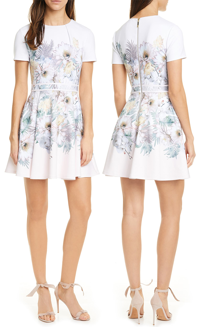 Ted Baker Haylinn Floral Dress 2020. Dress for Kentucky Oaks Day. Pastel Floral Dress. Dress for a Spring Wedding 2021. Kentucky Derby Day outfits. What to wear to the Kentucky Derby 2021. Kentucky Derby Fashion 2021. Kentucky Derby Dresses 2021.