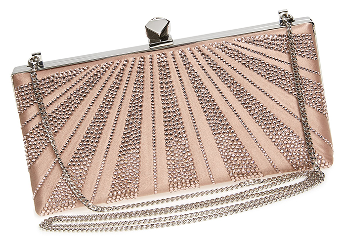 Jimmy Choo Clutch Bags 2021. Wedding Guest Outfits 2021. What to wear to a Spring Wedding 2021. Mother of the Bride Clutch Bags 2021. Jimmy Choo Ballet Pink Crystal Celeste Bag 2021. Jimmy Choo Luxury Clutch Bags 2021.