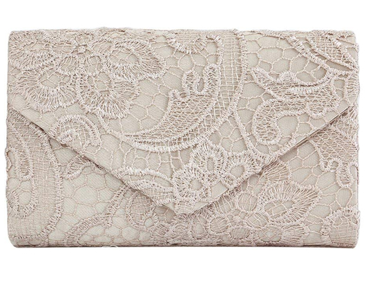 Lace Champagne Nude Clutch Bag for weddings. Cheap Clutch Bags. Mother of the Bride Outfits, Wedding Outfits for Mother of the Bride. Champagne Clutch Bag. Winter Wedding ideas