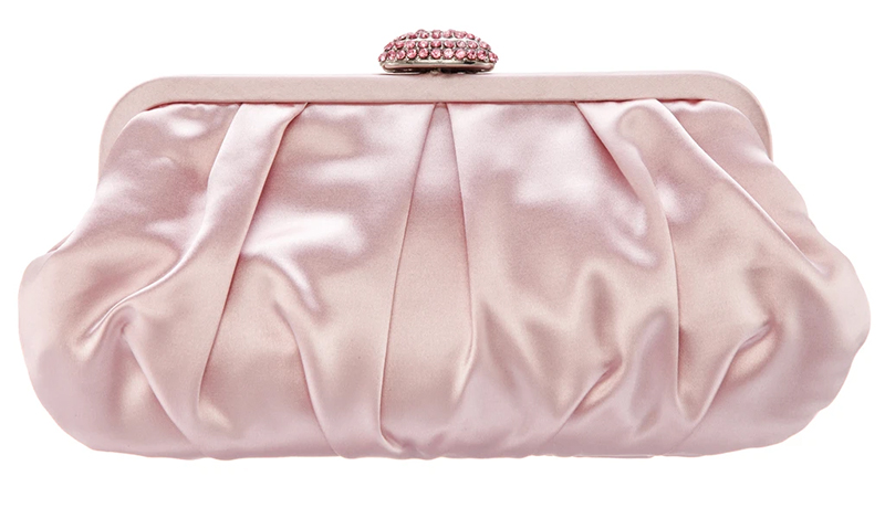 Pink Rose Quartz Clutch Bag USA. Clutch Bags for Wedding Guests USA 2021. Rose Quartz Mother of the Bride Clutch Bag 2021. What to wear for a formal Wedding 2021. Best Mother of the Bride Clutch Bags 2021. Blush Pink Mother of the Bride outfits 2021.