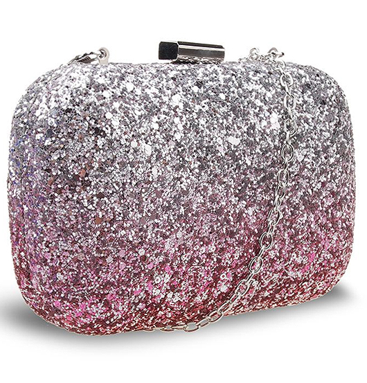 Metallic Pink and Silver Glitter Clutch Bag. Mother of the Bride Clutch Bag. Mother of the bride outfit ideas. Mother of the Groom Bags. Winter Wedding Outfit Ideas