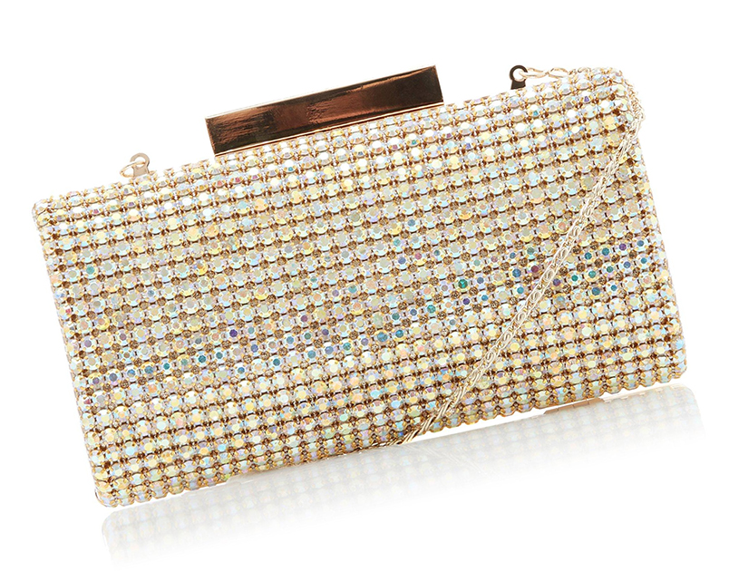 Gold Crystal Clutch Bag. Mother of the Bride Outfits. Mother of the Groom Outfits. Mother of the Bride Clutch Bags under $150.00. Clutch Bags under £100.00. Outfit ideas for Mother of the Bride. Bags for Winter Weddings. Mother of the Bride Bags.