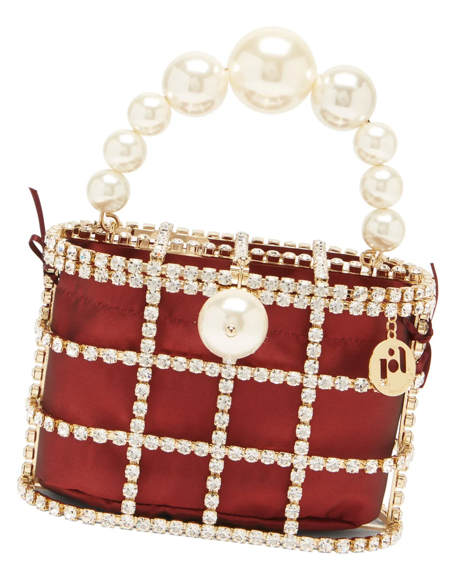 Rosantica Mini Handbags 2021. Rosantica Holli Clutch Bag 2021. Burgundy Mother of the Bride Bag 2021. Bags for Mother of the Bride 2021. Best Mother of the Bride Clutch Bags 2021. Luxury Clutch bags for Mother of the Bride 2021. Bridal Bags 2021. Bags for Spring weddings 2021. Winter wedding Mother of the Bride Bag 2021.