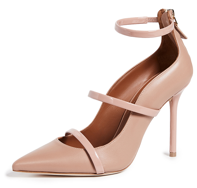 Malone Souliers Robyn Pumps in Nude. Where to find the Best Nude Shoes. Designer Nude Shoes. What to wear with a Nude Dress. How to Wear Nude shoes