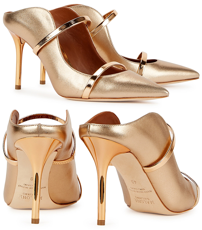 Malone Souliers Shoes 2020. Gold High Heel Shoes. Gold Mother of the Bride Shoes 2020. Gold Shoes for Mother of the Bride. Spring Wedding Mother of the Bride Outfits 2021. Designer Shoes for Wedding guest 2021. Malone Souliers Designer Shoes 2020. Best shoes for Mother of the Bride 2021. Pretty Mother of the Bride Shoes 2020.