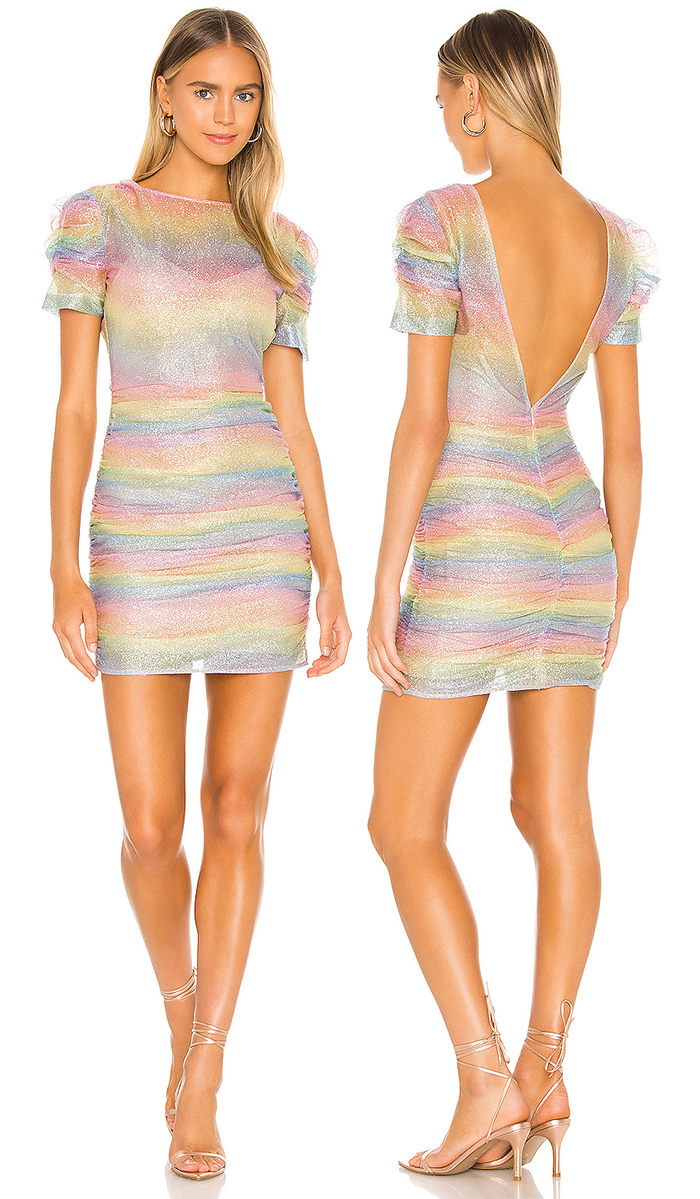 Rainbow Fitted Dress for Kentucky Derby 2021. Rainbow Fashion 2020. Colorful Dress for the Kentucky Derby 2021. What to wear for the Kentucky Derby 2021. Kentucky Derby Outfits 2021. Rainbow Fashion outfits 2020. Sparkle Dresses 2020. Fashionista Fashion Summer 2021. Blogger Fashion 2020. Dress for a Summer Wedding Guest 2021.