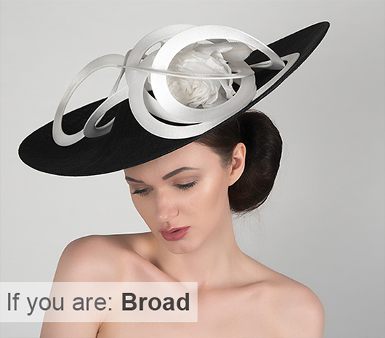 Hats for Broad People. Hats for people with broad shoulders. Mother of the Bride Hats for plus size Mums, Plus Size Mother of the Bride