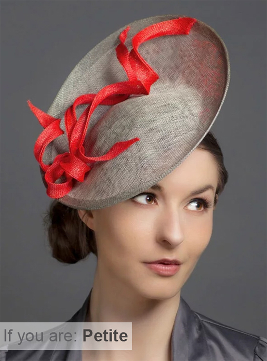 Saucer Fascinator. Silver Fascinator. Hats for Petite People. Mother of the Bride hats for Petite Mums