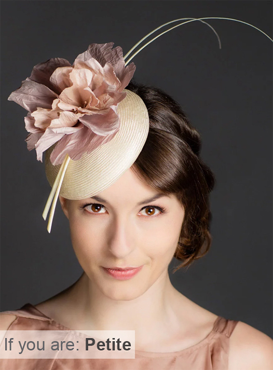Fascinators for Petite People. Floral Fascinator. Hats for Petite People. Mother of the Bride fascinators for Petite Mums