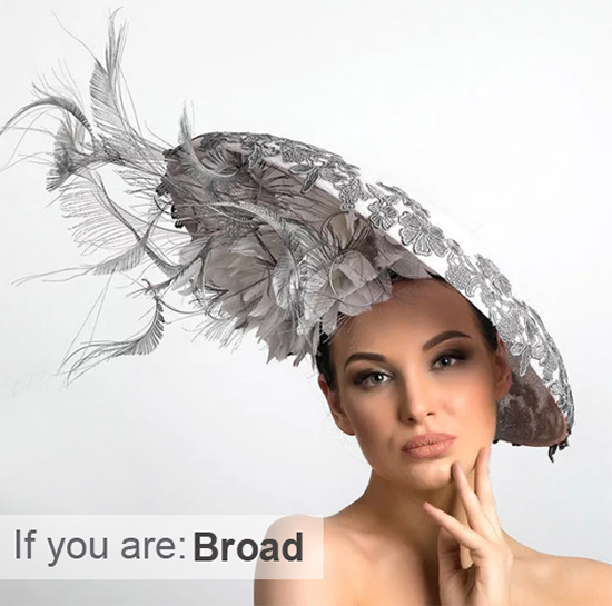 Hats for Broad People. Big Silver Hat. Hats for people with broad shoulders. Mother of the Bride Hats for plus size Mums, Plus Size Mother of the Bride