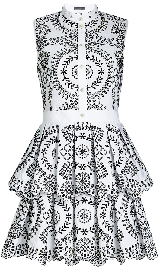 Alexander McQueen Dress. Dresses for the Races. Fashions on the Field outfits. What to wear for the Melbourne Cup. Black and White Derby Day Outfits. Black and White Dresses. Monochrome Outfits for the Races.