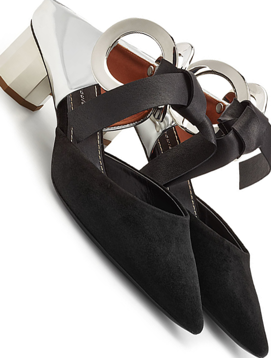 PROENZA SCHOULER Shoes. Shoes for Race Day outfits. What to wear for the Melbourne Cup. Fashions on the Field Ideas. Fashions on the Field Outfits. Monochrome Outfit Ideas. What to wear to the Races