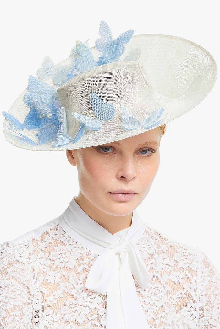 Bundle Maclaren Butterfly Mother of the Bride Hat 2020. Designer Hats for Mother of the Bride 2021. Summer Mother of the Bride outfits 2021. Summer Wedding guest outfit ideas 2021. What to wear to a Summer Wedding 2021.