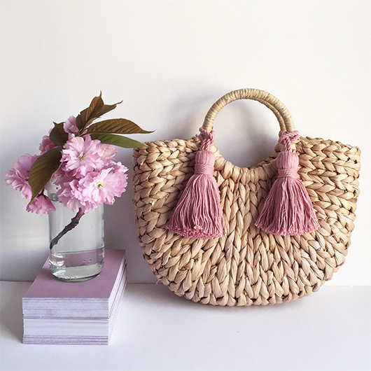 Tassels Bags. Top Handle Straw Bags. Straw Beach Bags. Accessories with Tassels. Boho Straw Bags. Cheap Beach Bags. Pom Pom Beach Bags