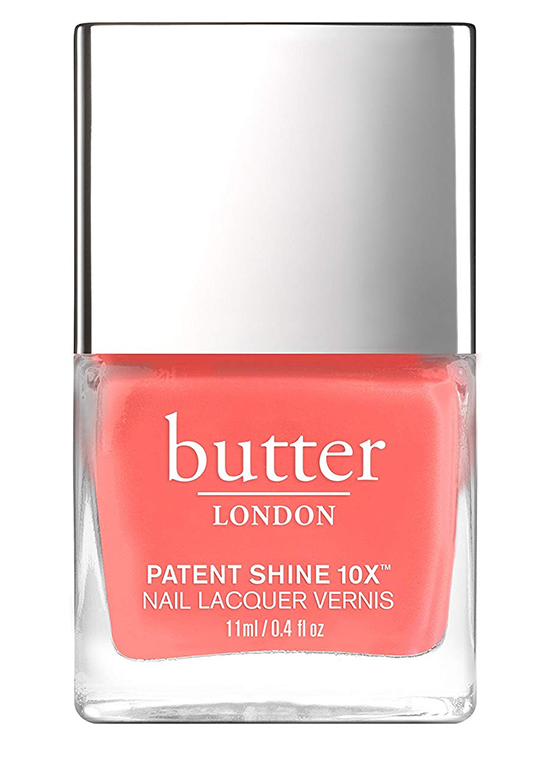 Coral Nail Polish. Outfits with Living Coral. Pantone Colour of the Year 2019 Living Coral. Butter Nail Polish in Living Coral. Spring Summer 2019 Make Up Colours. How to Wear Pantone Colour of the Year 2019 Living Coral. Coral Make Up