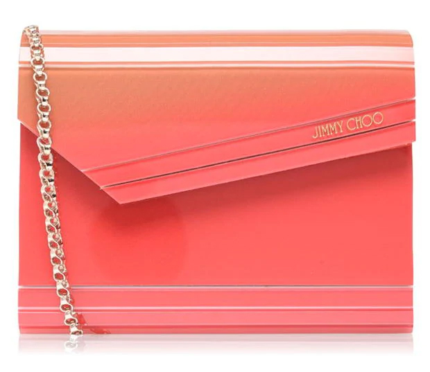 Coral Clutch Bags 2020. How to wear Coral 2020. Coral Fashion 2020. Outfits with the colour Coral 2020. Jimmy Choo Handbags 2020. Coral Mother of the Bride Bags. Mother of the Bride bags 2020. Outfit ideas with Coral 2020.