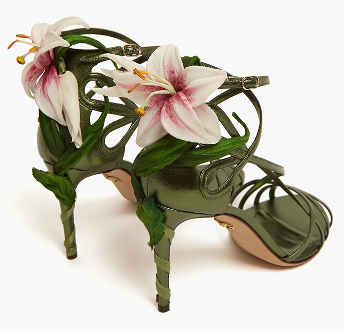 Dolce and Gabbana Lily Shoes. Dolce and Gabbana Floral Shoes. Green Shoes. What to wear with a Green Dress. Blogger Fashion Outfits. Spring Wedding Guest Outfits 2020. What to wear to a Spring Wedding.