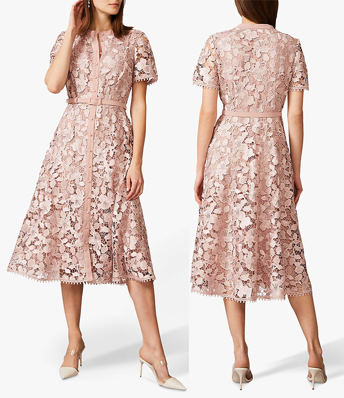Nude Lace Midi Dress 2021. Nude Coloured Dress 2021. Dress for an Autumn Wedding Guest 2021. Best Nude Dresses 2021. Nude coloured outfit ideas 2021. Find the Perfect Nude Dress 2021. How to wear Nudes 2021.