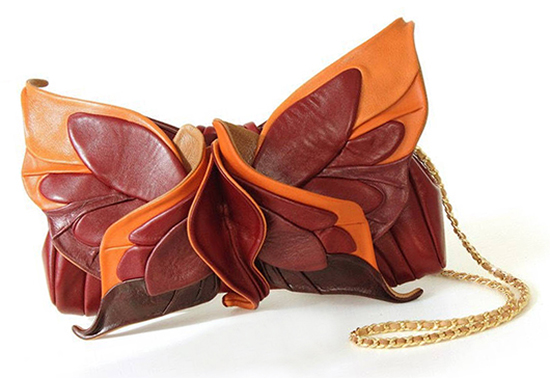 Orange and Burgundy Leather Bag. What to wear for a Winter Wedding. What to wear with an Orange Dress. How to wear Orange. Autumn Outfit Ideas. Handmade Gift Ideas. Etsy Handmade Bags