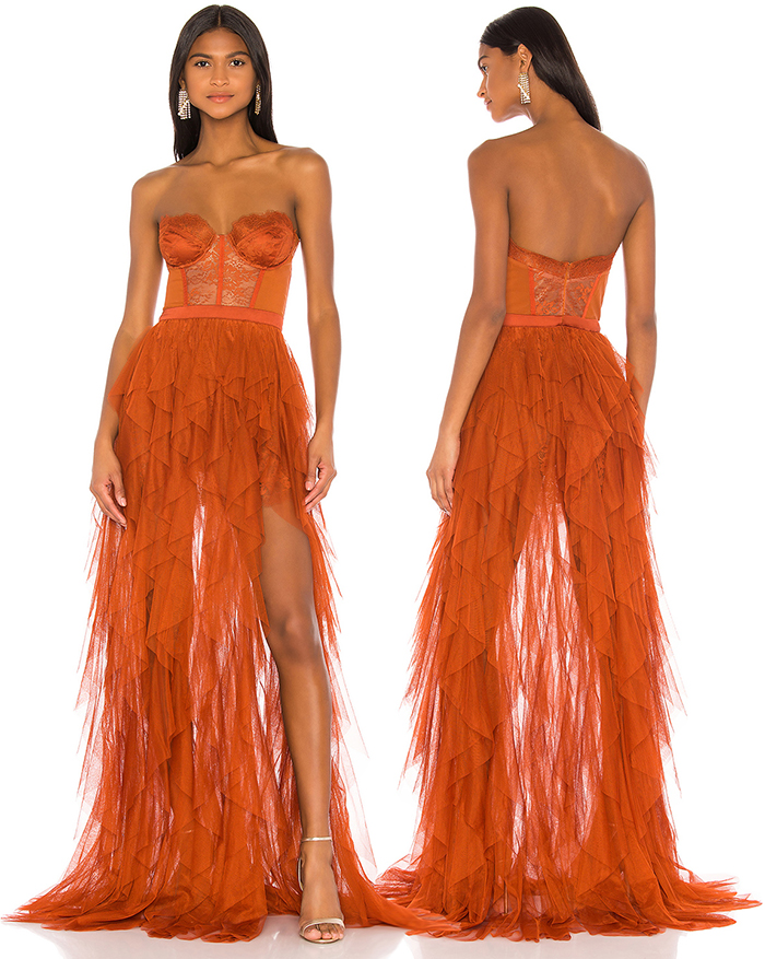 Orange Tulle Dress. Orange evening Dress 2020. Tulle evening gown. Evening Gowns in orange. Designer evening gowns. Orange Outfit ideas 2020.