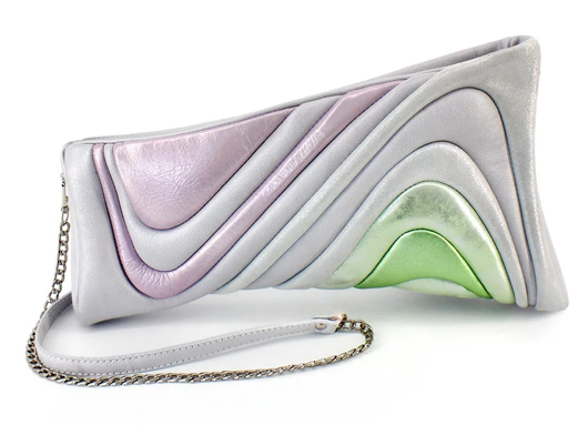 Clutch Bag with Pastel Colours on Etsy, Striped Clutch Bags. Clutch Bag for the Races. Clutch Bags for Summer Weddings