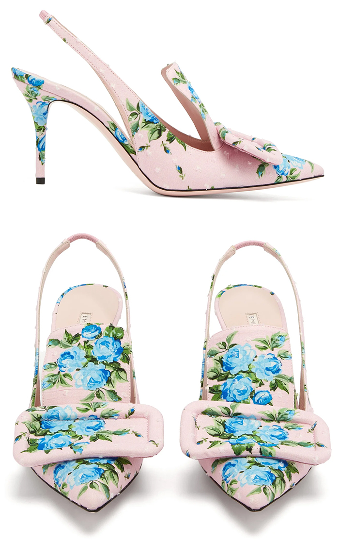 Baby Pink Womens Shoes 2020. Emilia Wickstead hoes 2020. Floral Shoes for Summer 2020. What to wear for a day at the races 2020. Floral Fashion outfits Summer 2020. Pastel outfit ideas 2020. Royal Ascot Outfit Ideas 2021. Summer wedding guest outfit ideas 2020.