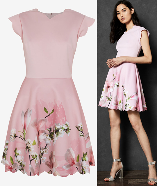 Ted Baker Lillies for the Fillies Dress. Pink Dress with Lillies for Kentucky Oaks Day. Spring Wedding guest outfits. Outfit ideas for Spring Weddings. Pink outfits for Kentucky Derby Oaks Day. Mother of the Groom Outfits. What to wear to the Kentucky Oaks. Floral Pink Dress.