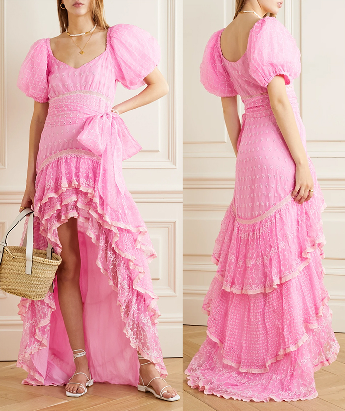 Outfits for a Spring Wedding Guest 2021. Pink Dress for the Kentucky Derby 2021. What to wear for the kentucky Derby 2020. Kentucky Derby outfit ideas. Dress for the Dubai World Cup 2021. Pink Maxi Dress for Spring wedding 2021. How to wear Pink. Pink outfit ideas. Pink Fashion inspiration 2020. LoveShackFancy Cayden Pink Dress. Lillies for the Fillies outfits 2020. Kentucky Derby Outfit ideas 2020. Pink Outfits for Kentucky Derby 2020.