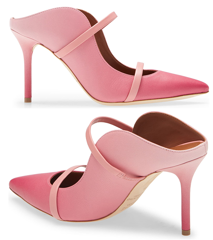 Pretty Pink Ombre Shoes. Pink Shoes for Wedding guest outfits USA. Kentucky Derby Outfits 2021. Malone Souliers Pink Shoes 2021. What to wear with a Pink Dress 2021. What to wear for a Spring Wedding 2021. Malone Souliers Maureen Shoes 2021.