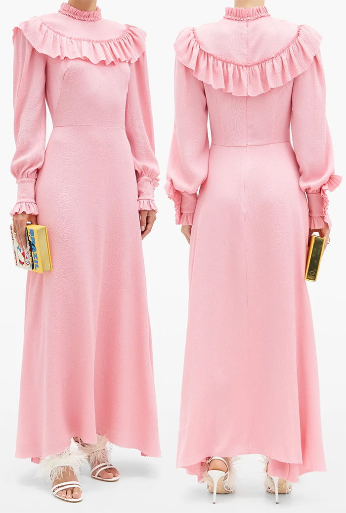 Millennial Pink Dress for Wedding Guest 2021. Dresses for the races 2021. What to wear for Royal Ascot 2021. The Vampires Wife Dresses 2021. Dresses for Royal Ascot 2021. How to dress for Royal Ascot 2021. Pink Maxi Dress 2021. How to wear Pink 2021. Outfits with Millennial Pink 2020.