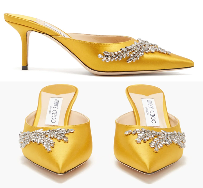 Jimmy Choo Yellow Shoes 2020. Jimmy Choo Shoes Autumn 2020. How to wear Yellow 2020. Designer Yellow Shoes 2020. Outfits with Yellow 2020. Yellow Mother of the Bride Shoes 2020. Outfits with Yellow 2020. What to wear with Yellow. Yellow outfit inspiration 2020.