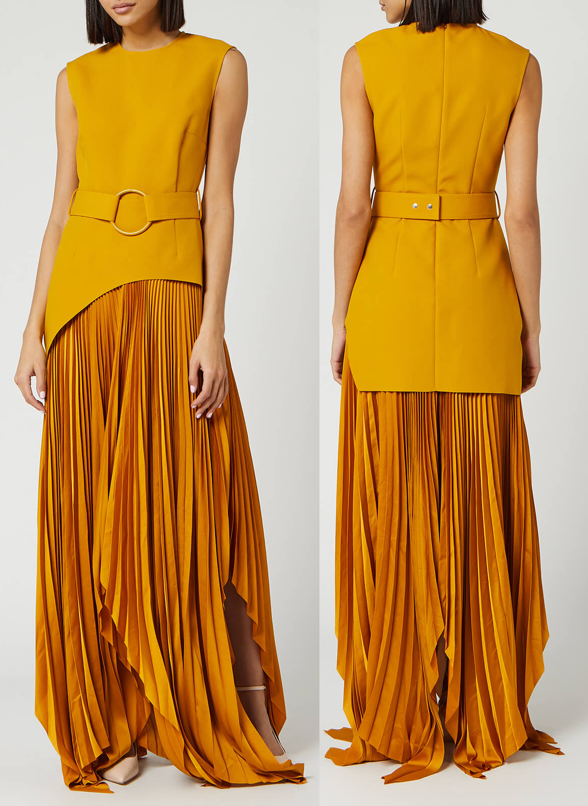 Mustard Yellow Dress 2020. Solace London Dresses 2020. Outfits in Mustard Yellow 2020. Outfit ideas in Mustard Yellow 2020. Fall Fashion Trends 2020. Autumn Fashion Trends 2020. Long Mustard Yellow Dress 2020. How to wear Yellow 2020.