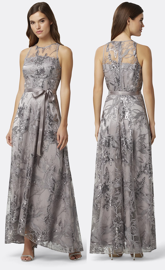 Winter Embellished Mother of the Bride dresses 2020. Silver Mother of the Bride dresses 2020. Mother of the Bride dresses for a winter Wedding. Mother of the Bride Maxi Dress 2020. Autumn Winter Bridal Trends 2020. Ideas for Winter Wedding Mother of the Bride. Winter Mother of the Bride ideas 2020. Long Mother of the Bride Dress for winter weddings 2020.