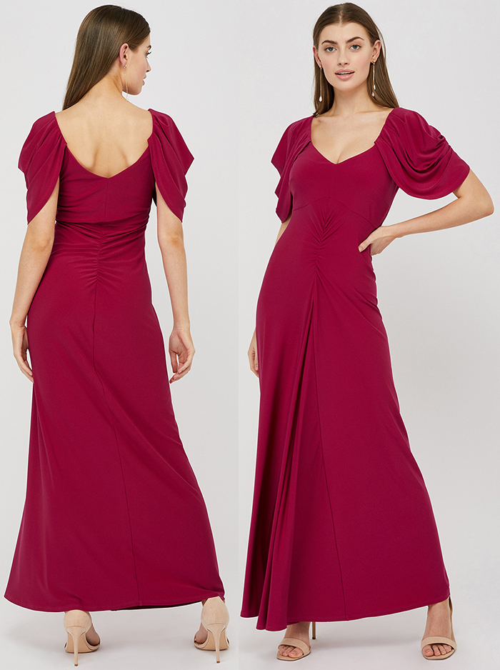 Winter wedding Guest dress 2020. Red dress for a winter wedding. Red Bridesmaids dress for winter weddings 2020. What to wear to a Winter Wedding 2020. Burgundy Red Maxi Dress 2020. Dress for a December Wedding 2020.. Winter wedding Guest Outfits 2020.