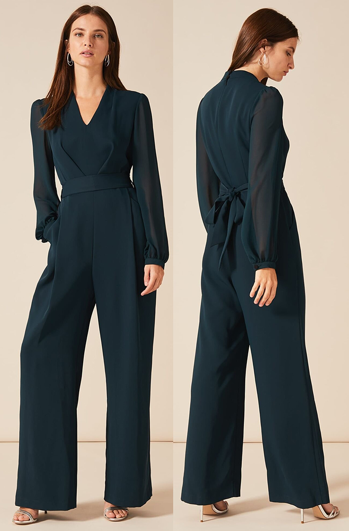 New Jumpsuits 2020. Winter Jumpsuits 2020. Dark Green Jumpsuits 2020. Winter Fashion 2020. Jumpsuits for a Winter Wedding Guest 2020. What to wear for a Winter wedding 2020. Winter Wedding Outfits 2020. Winter wedding guest outfits 2020. What to wear to November wedding 2020. Long Sleeve Jumpsuits for 2020.