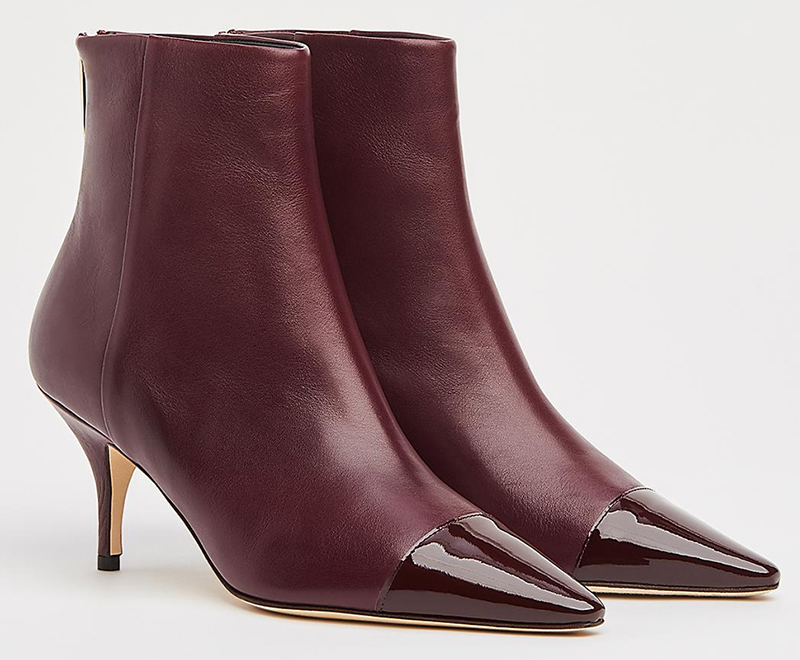 Burgundy Leather Ankle Boots 2020. LK Bennett Ankle Boots 2020. LK Bennett Athena Boots 2020. Winter wedding Guest Outfits 2020. Ladies Autumn Winter outfits 2020. Ankle Boots for Winter 2020 UK. What to wear for a Winter Wedding 2020. What to wear to a January Wedding 2021.