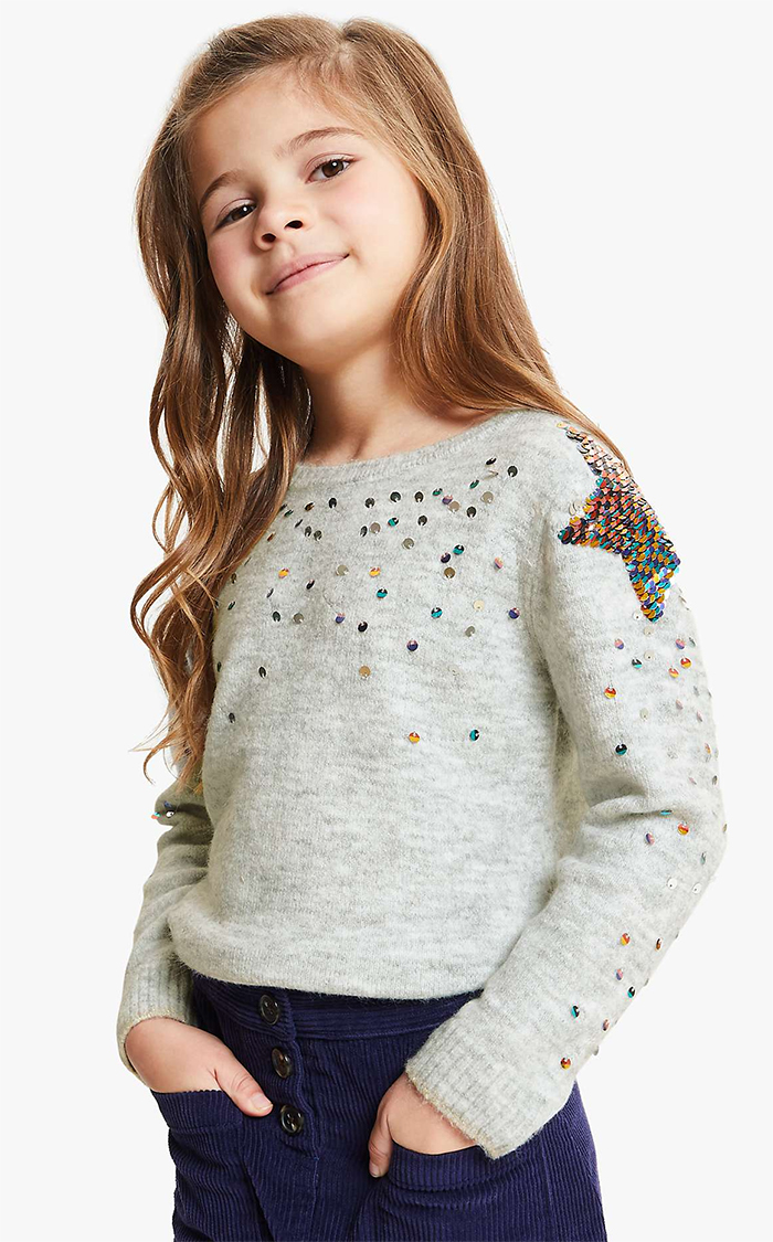NEW girls kids SO COOL pink or blue cosy winter warm knitted christmas jumper