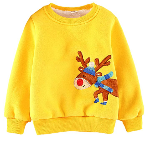 Christmas Jumpers for little girls. Warm Christmas Jumper. Best Christmas Jumpers. Jumpers for Christmas Jumper Day at School. Christmas Gifts for under 10 year olds. Christmas Sweater Christmas Gifts. Christmas jumpers for young kids.