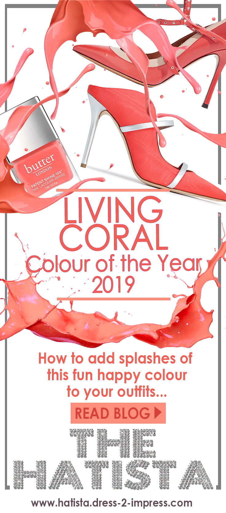 What to wear with Coral. Coral Outfit ideas. How to wear the colour Coral. Pantone Colour of the Year 2019 Living Coral. Coral outfit inspiration 2020. What to wear with a Coral Dress