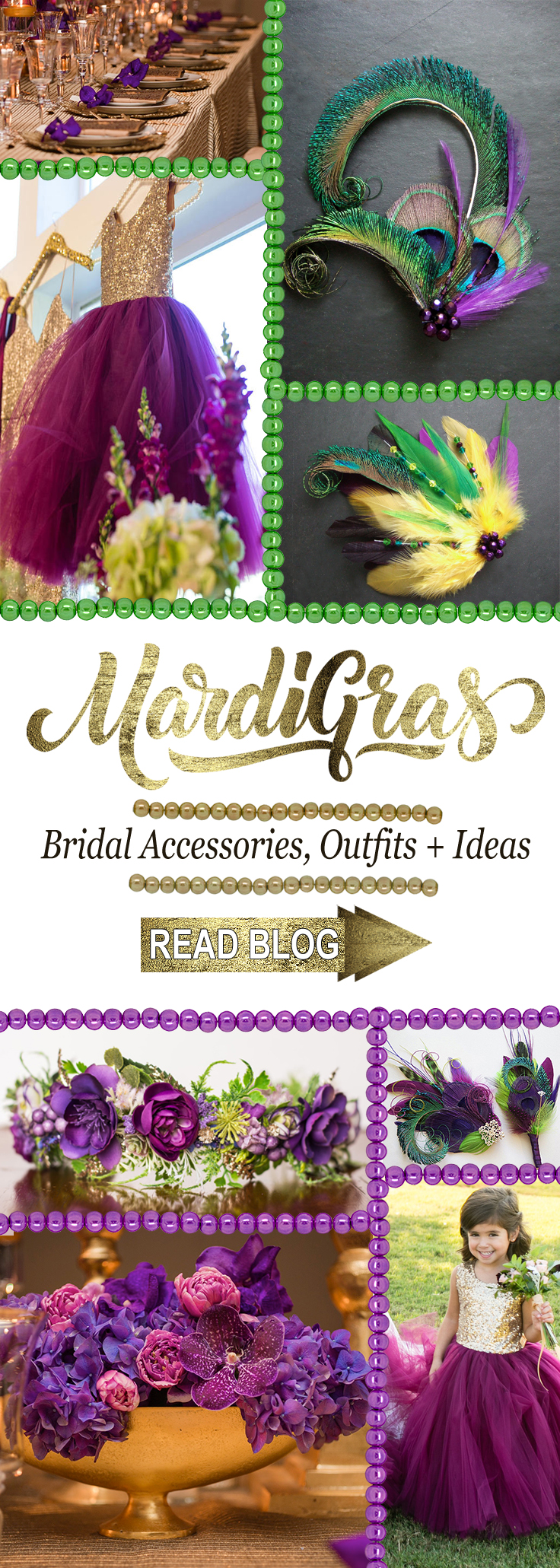Mardi Gras Outfits, Getting Married During Mardi Gras, Mardi Gras Wedding Outfits, Mardi Gras Themed Wedding Ideas, Mardi Gras Bridesmaids, Flower Girl Outfits for Mardi Gras Wedding