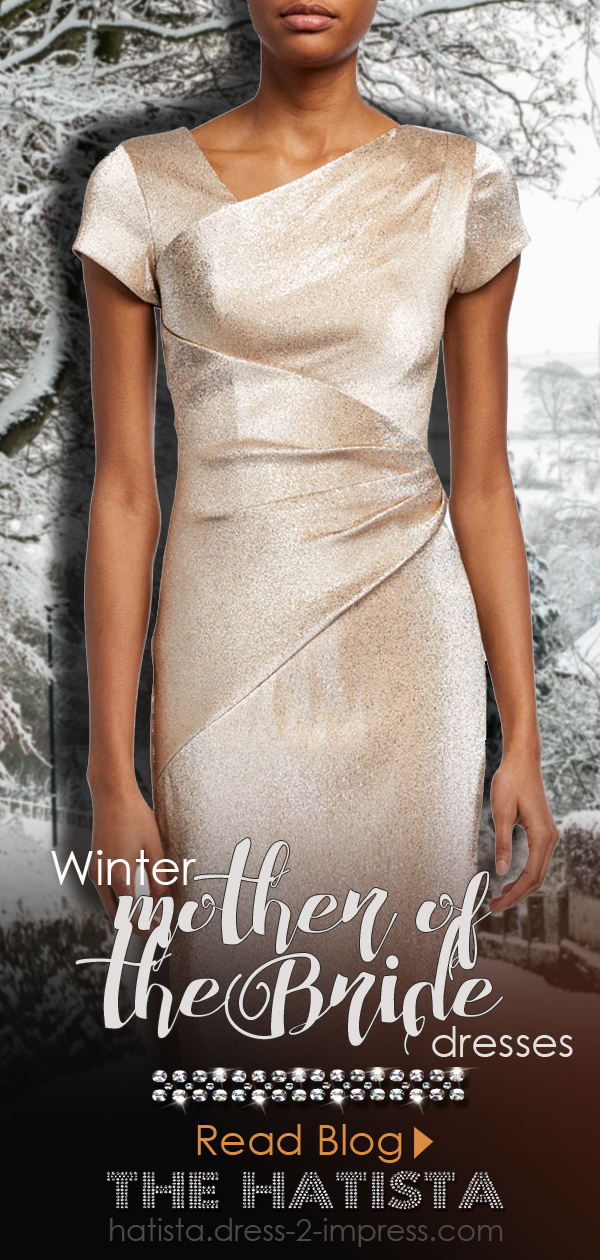 Winter Wedding Mother of the Bride Outfit Ideas. What to wear to a winter wedding. Dresses for a Winter Wedding Mother of the Bride. Fashion Blog for Winter Weddings. Winter Mother of the Bride outfit ideas. Champagne gold Mother of the Bride Dress.