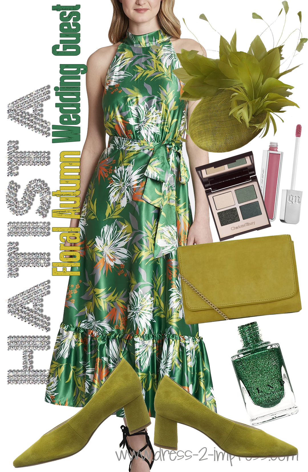 How to Wear Green. Outfit ideas for Autumn Wedding Guests. What to wear for Royal Ascot. Outfit ideas for an Autumn Wedding. Autumn Mother of the Bride outfits. What to wear to the Races. What to wear with a Green Dress. How to wear Green.