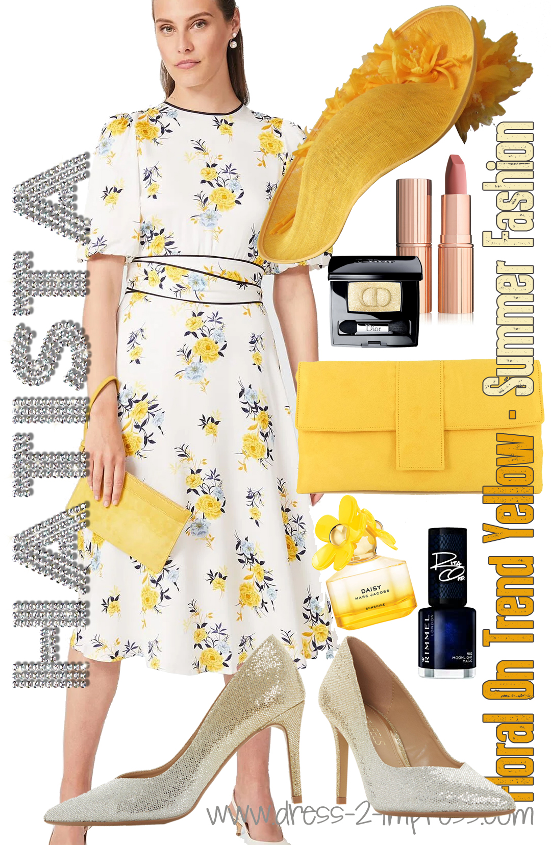 Yellow Royal Ascot outfit. How to Wear Yellow. On trend colours for Summer. Outfit ideas with Yellow. What to wear for Royal Ascot. Summer Wedding outfit ideas. What to wear for to the Races.