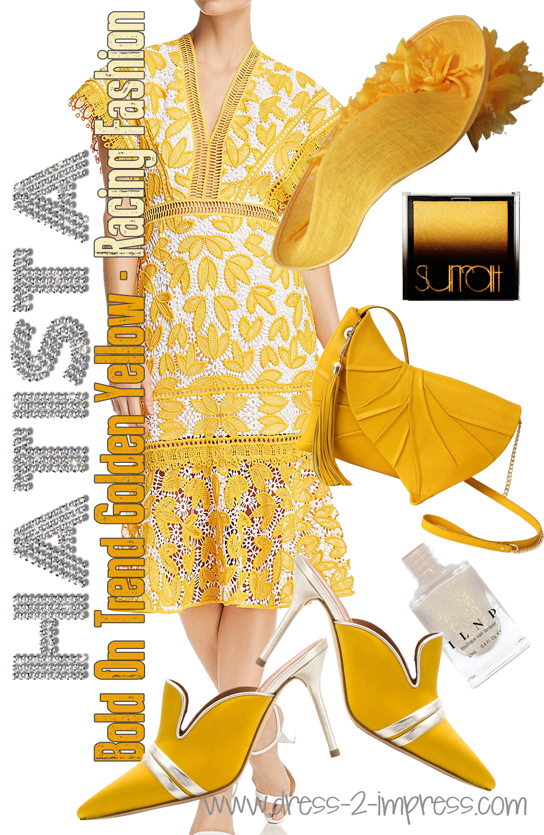 Yellow Kentucky Derby outfit. How to Wear Yellow. On trend colours for Summer. Outfit ideas with Yellow. What to wear for the Kentucky Derby. Spring Wedding outfit ideas. What to wear for a day at the Races.