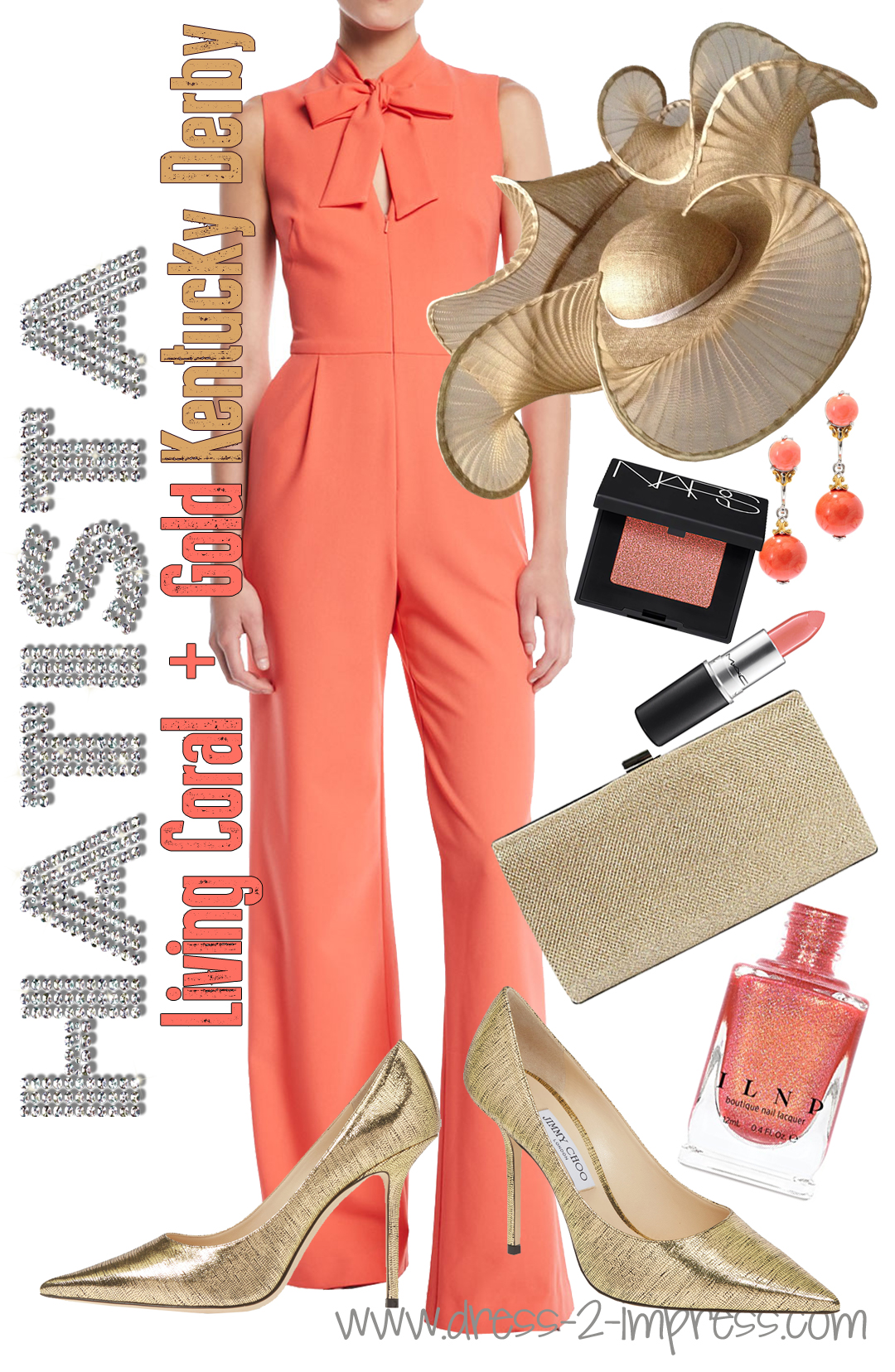 How to wear Living Coral. Outfit ideas with Living Coral. How to wear Pantone Colour of the Year 2019 Living Coral. How to wear Coral. Coral Mother of the Bride Outfits. Kentucky Derby Outfits. Outfit ideas for Royal Ascot, What to wear for Royal Ascot Ladies Day. Coral Outfit ideas for the races