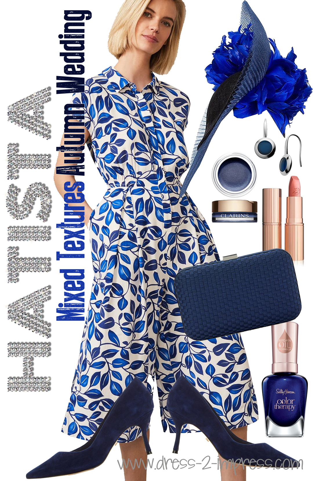 How to wear Blue to an Autumn Wedding 2020, What colours go with Royal Blue 2020. What to wear with a Royal Blue Dress 2020. Autumn Wedding Guest Outfits 2020. Autumn Outfits with Royal Blue. Autumn Wedding Mother of the Bride Outfits 2020