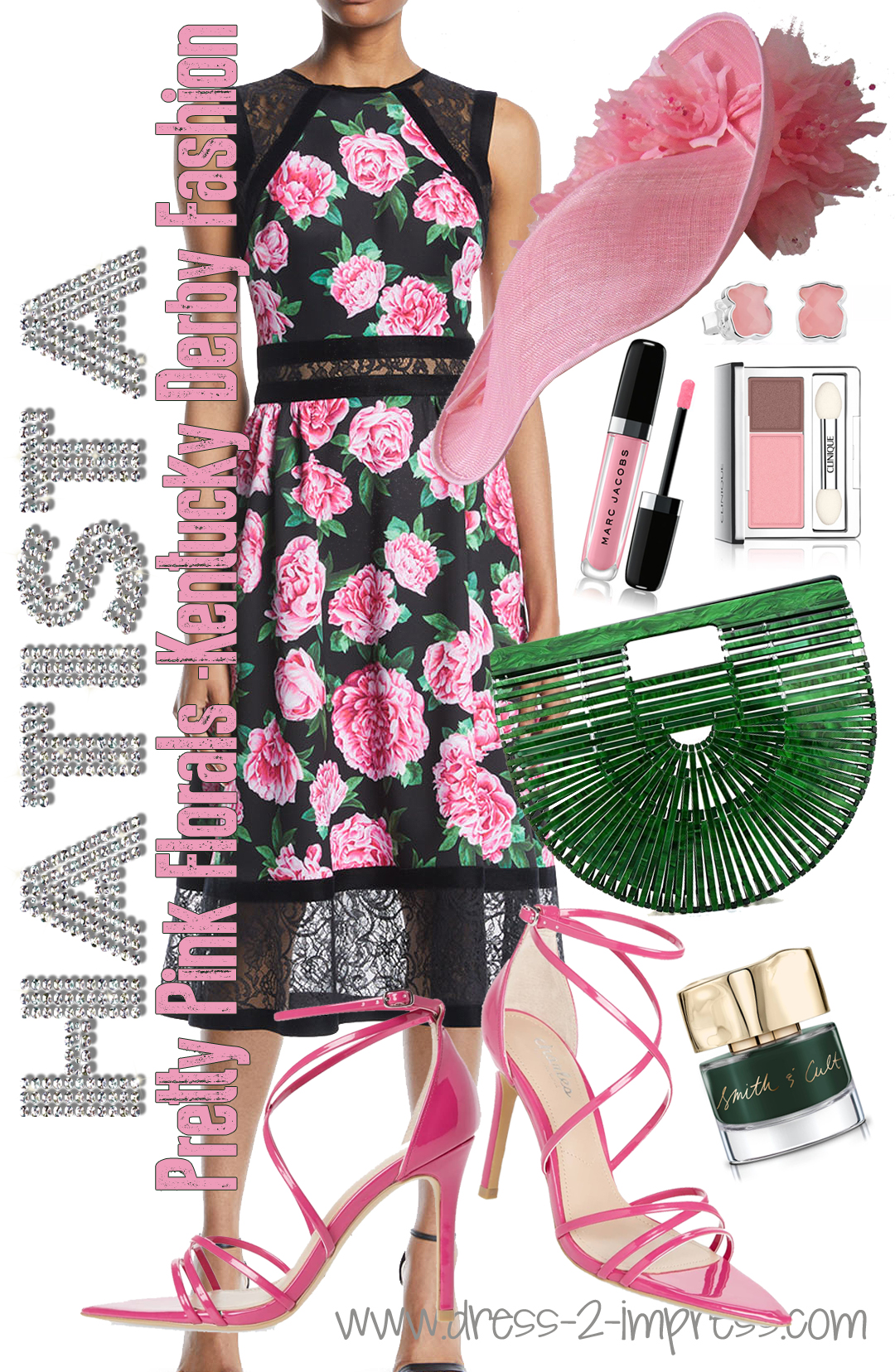 What to wear to the Kentucky Derby 2020. How to wear pastels. What to wear with Pink. What to wear for Summer Weddings 2019. Outfits for the Kentucky Derby 2020. Kentucky Derby Hats, Kentucky Derby Outfits 2020, Floral Lace Dress #kentuckyderby