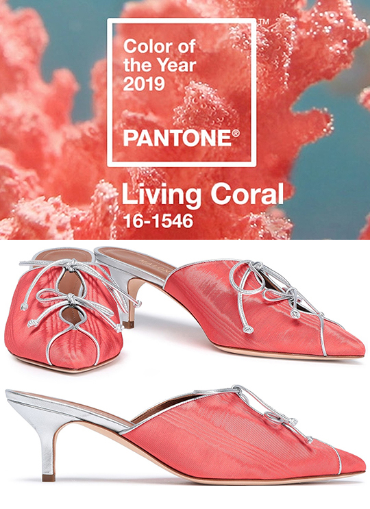 What to wear with Coral. Coral Outfit ideas. How to wear the colour Coral. Pantone Living Coral. Pantone Colour of the Year 2019 Living Coral. What to wear with a Coral Dress