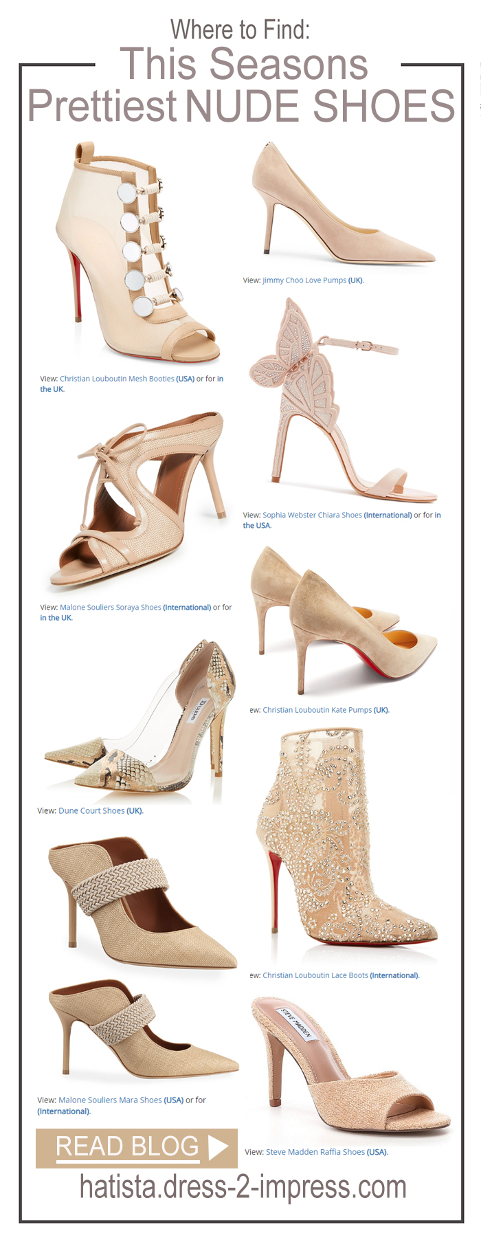 Where to find the best Nude Shoes, Best Nude Shoes for a Summer wedding Guest, Best shoes for winter Weddings, Budget Nude Shoes, Luxury Shoes, Designer Nude Shoes. Nude Shoes on a Budget