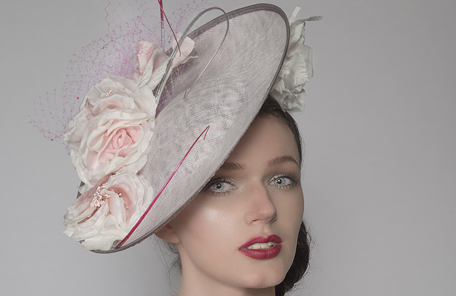 Pink Outfits for the Kentucky Derby. Silver Hat for the Kentucky Derby. Derby Day Outfit ideas. What to wear a Kentucky Derby Party. How to dress for the Kentucky Derby. What to wear to the Races. Yellow Hats. Hats for the Races. Fascinators for The Races.
